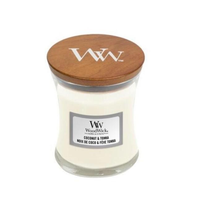 Lumanare Parfumata Borcan Mic Coconut Tonka, WoodWick®