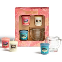 Yankee Candle The Last Paradise Set cadou 3 lumanari votive si suport