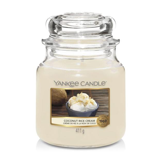Lumanare Parfumata Borcan Mediu Coconut Rice Cream, Yankee Candle