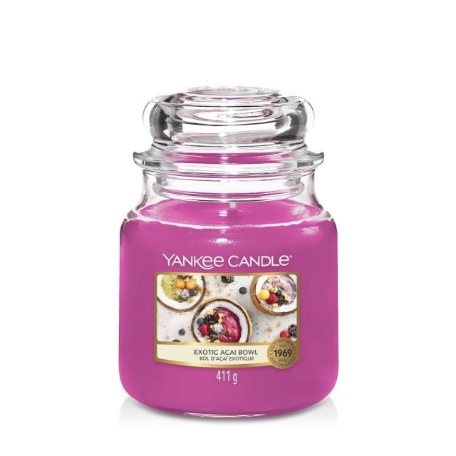 Lumanare Parfumata Borcan Mediu Exotic Acai Bowl, Yankee Candle