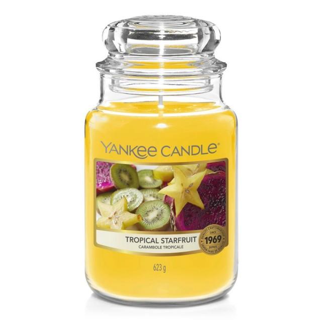 Lumanare Parfumata Borcan Mare Tropical Starfruit, Yankee Candle