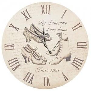 """Ceas """"Les Chaussures d'une Dame"""" Ø 60 cm, Clayre & Eef"""