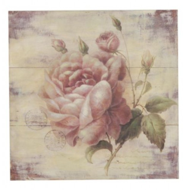 "Tablou ""Rose"" 51x51 cm, Clayre & Eef"