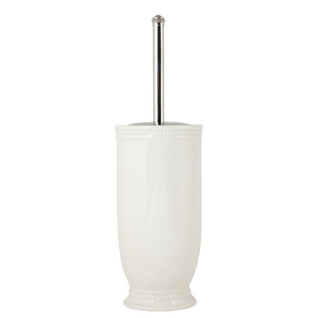 Perie de toaleta cu suport din ceramica, Clayre & Eef