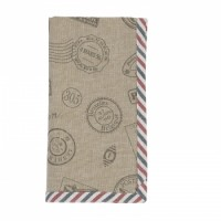 """Servet de masa textil """"Postal Express"""" 40*40 cm, Clayre & Eef"""