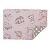 "Suport textil farfurii ""Kitchen Princess"" 33*48 cm, Clayre & Eef"