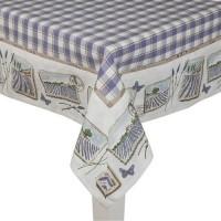 """Fata de masa """"Lavande de Provence"""" 150*250 cm, Clayre & Eef"""