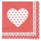 "Servetele de masa ""Lovely Hearts"" 33*33 cm, Clayre & Eef"