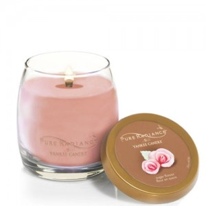 Lumanare Parfumata Pure Radiance Medium Sugar Flower + Suport Lumanare CADOU, Yankee Candle