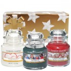 Set Cadou 3 lumanari in borcan mic, Snow in Love, Candy Cane si Bundle Up, Yankee Candle
