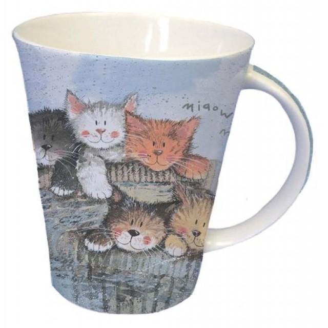 """Cana din portelan fin Alex Clark """"Kittens"""" 370 ml, Churchill"""