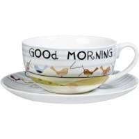 Ceasca cu farfurie The Good Life - Cappuccino