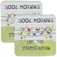 Set Coasters Good Morning