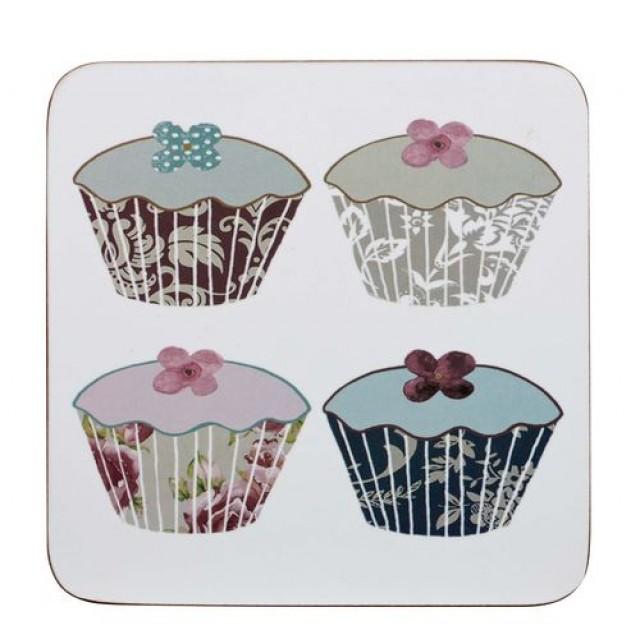 Coaster Floral Cupcakes