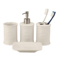 "Set de baie 4 piese ""Simple Bath"", Clayre & Eef"