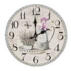"Ceas ""Garden Time"" Ø 34*4 cm, Clayre & Eef"