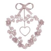 Decoratiune inima cu flori, Clayre & Eef
