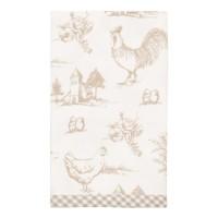 """Servetel de masa """"Chicken Family"""" 40*40 cm, Clayre & Eef"""