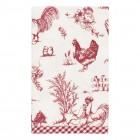 "Servet de masa textil ""Chicken Family"" 40*40 cm, Clayre & Eef"