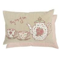 "Perna decorativa ""My cup of tea"" 35*50 cm, Clayre & Eef"
