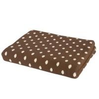 "Pled "" Brown Polka Dots"" 125*150cm"
