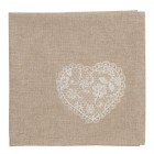 """Servet de masa textil """"Lace With Love"""" 40*40 cm, Clayre & Eef"""