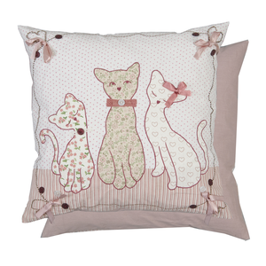 "Perna decorativa ""Aristocrat cats"" 50*50 cm, Clayre & Eef"