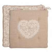 "Perna scaun ""Lace with Love"" 40*40cm, Clayre & Eef"
