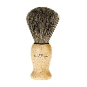 Pamatuf pentru barbierit Simple Wood, Pure Badger, Edwin Jagger