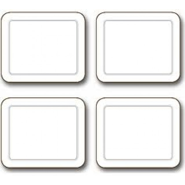 Embassy White Placemats - Set 4 pcs.