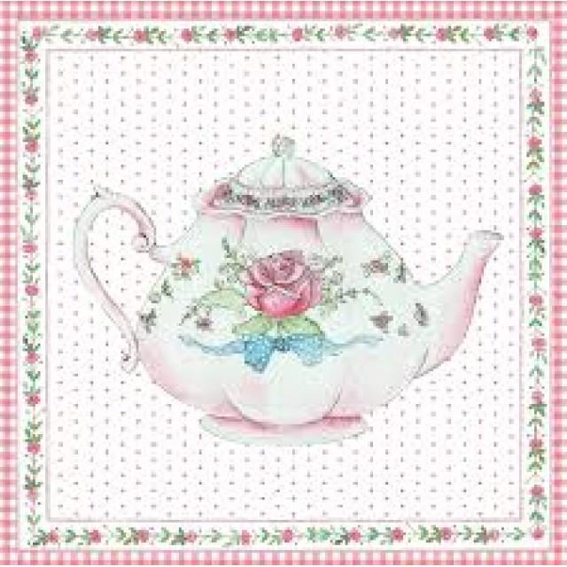 "Felicitare "" Rose Teapot"", Clayre & Eef"