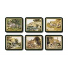 Country Cottages Coasters - Set 6 piese