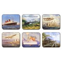 Nostalgic Travel Placemats - Set 6 piese