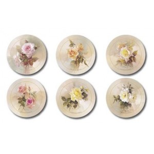 Fragrant Blooms Coasters - Set 6 piese