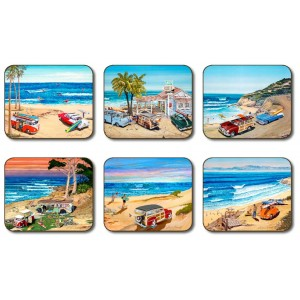 Surfing Coasters - Set 6 piese