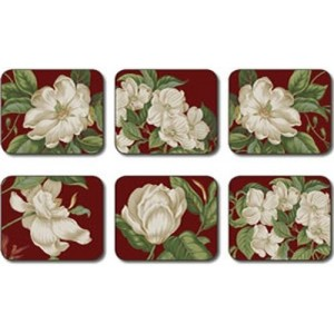 Garden Images Red Coasters - Set 6 piese