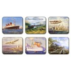 Nostalgic Travel Coasters - Set 6 piese
