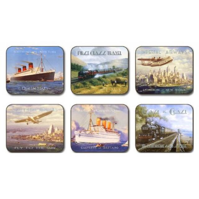 Set 6 coasters, suporturi pahare, Nostalgic Travel, Jason