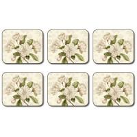 Custis Garden Camellia Coasters - Set 6 piese