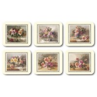 Old Fashioned Roses Coasters - Set 6 piese