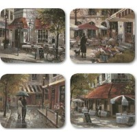 Cafe Scenes Placemats - Set 4 pcs.