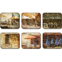 Bistro Scene Placemats - Set 6 piese