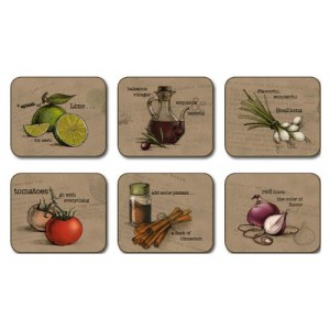 Recipes Delight Placemats - Set 6 piese