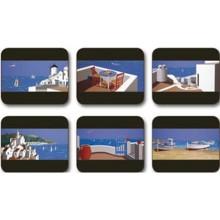 Set 6 piese Indigo Skies