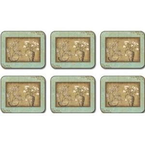 Tea Room Bouquet Placemats - Set 6 piese