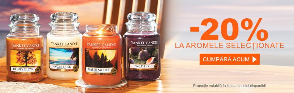 Promotie lumanari parfumate Yankee Candle