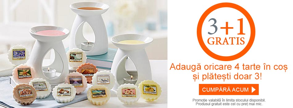 Promotie 3+1 gratis tarte parfumate ceara parfumata lumanari parfumate Yankee Candle