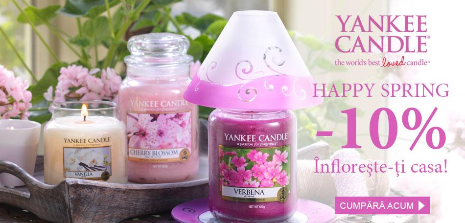 Reduceri la lumanari parfumate cu arome de primavara Yankee Candle
